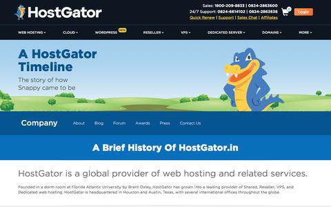 Screenshot of About Page hostgator.in - About Us   HostGator - captured Dec. 2, 2019