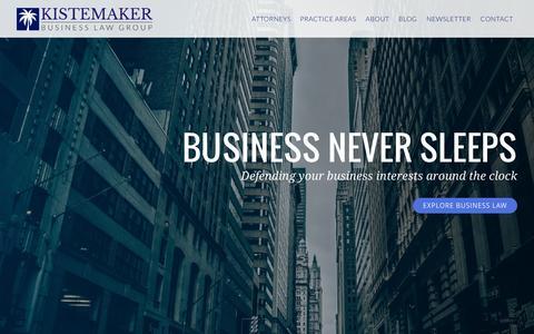 Screenshot of Home Page daytonabusinesslawyers.com - Daytona Beach Business and Real Estate Lawyers   Kistemaker Business Law Group - captured Sept. 6, 2015