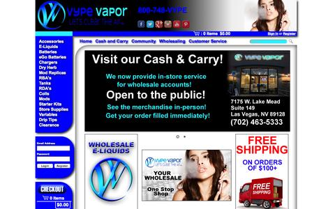 Screenshot of Home Page vypevapor.com - E-Cigarettes, E-Liquids | Vype Vapor - captured Oct. 7, 2014