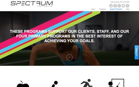 Screenshot of Support Page spectrumsp.com - Support Programs - SPECTRUM, Inc - captured Dec. 1, 2016