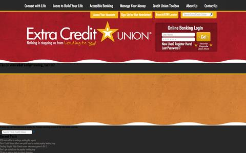 Screenshot of Home Page Blog About Page Contact Page FAQ Page Site Map Page Locations Page extracreditunion.org - Credit Union Warren and Sterling Heights Michigan - Extra Credit Union - captured Sept. 30, 2014