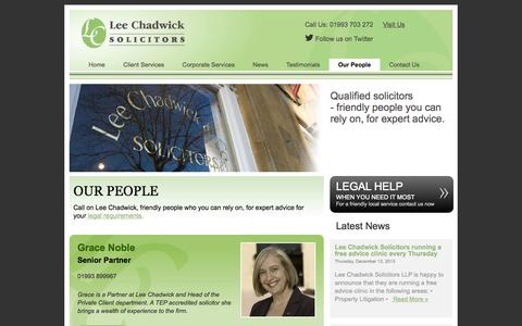Screenshot of Team Page lee-chadwick.co.uk - About Us | Solicitors Witney | Lee Chadwick Solicitors - captured Oct. 2, 2014