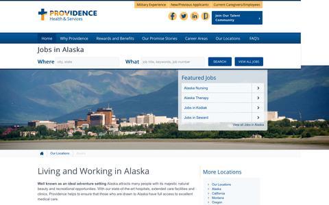 Screenshot of Home Page providence-alaska.jobs - Providence Alaska Jobs - captured Sept. 3, 2015