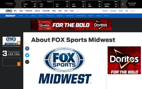 Screenshot of About Page foxsports.com - About FOX Sports Midwest | FOX Sports - captured March 12, 2017