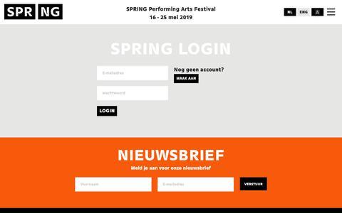 Screenshot of Login Page springutrecht.nl - SPRING - captured Dec. 13, 2018