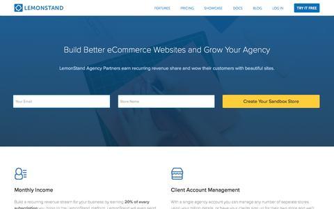 Screenshot of Developers Page lemonstand.com - The eCommerce Platform for Developers and Designers   LemonStand - captured Sept. 30, 2016