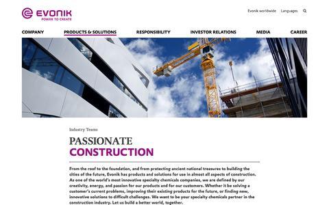 Construction - Evonik Industries AG
