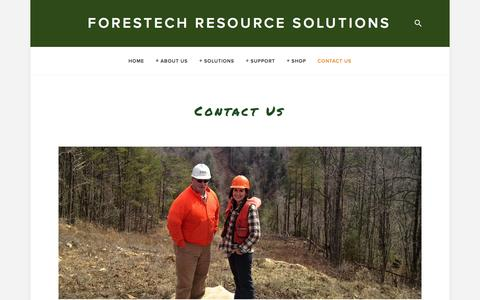 Screenshot of Contact Page forestechresourcesolutions.com - Contact Us — ForesTech Resource Solutions - captured Jan. 8, 2016