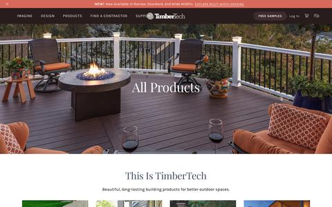 Screenshot of Products Page timbertech.com - Products | TimberTech - captured March 19, 2019