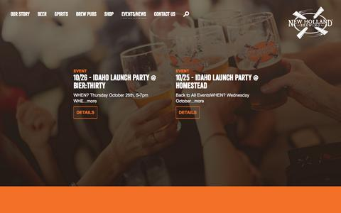 Screenshot of Press Page newhollandbrew.com - Events/News   New Holland Brewing - captured Oct. 20, 2017