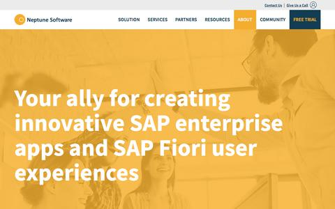 Screenshot of About Page neptune-software.com - About Neptune Software | Enterprise Mobillity for SAP - captured Feb. 2, 2018
