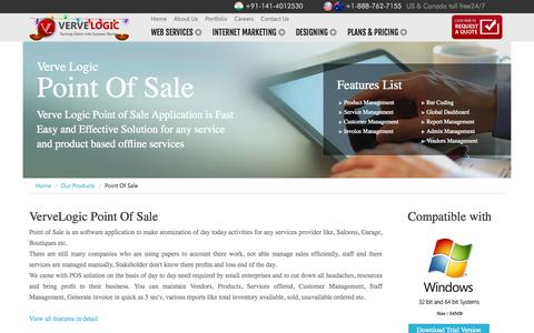 Screenshot of FAQ Page vervelogic.com - Point OF sale - Make the payment go more secure and reliable. - captured Oct. 26, 2014