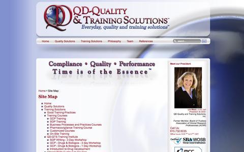 Screenshot of Site Map Page qd-qts.com - Site Map - captured Oct. 1, 2014