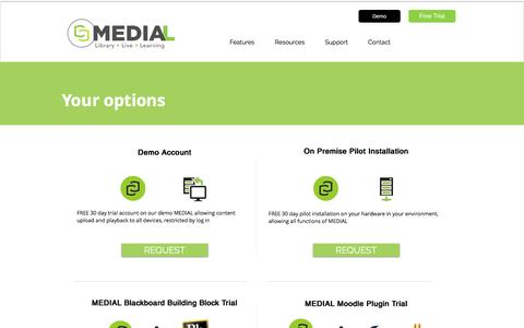 Screenshot of Trial Page medial.com - MEDIAL   Start Free Trial - captured Nov. 19, 2016