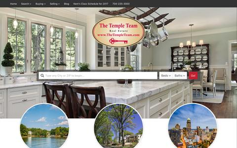 Screenshot of Home Page thetempleteam.com - Charlotte and Lake Norman Real Estate :: The Temple Team | Serving your real estate needs in the Greater Charlotte and Lake Norman Areas - captured Oct. 21, 2017