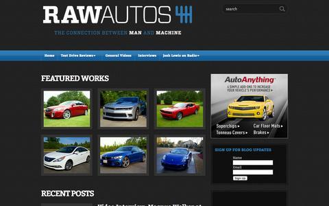 Screenshot of Home Page rawautos.com - RawAutos.com :: The Connection Between Man And Machine - captured Oct. 6, 2014