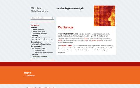Screenshot of Home Page microbial-bioit.com - microbial-bioit.com - captured Oct. 6, 2014