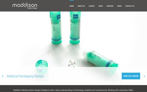 Screenshot of Home Page maddison.co.uk - Home - Maddison Limited Product Designers - captured Feb. 4, 2016