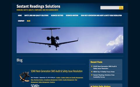 Screenshot of Blog sextantreadings.com - Blog - Sextant Readings Solutions - captured Oct. 9, 2014
