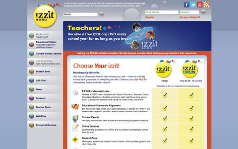 Screenshot of Signup Page izzit.org - izzit.org: Join izzit.org - captured Oct. 6, 2014