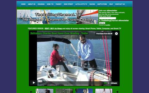Screenshot of Home Page thesailingchannel.tv - TheSailingChannel - captured Sept. 23, 2014