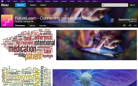 Screenshot of Flickr Page flickr.com - Flickr: FutureLearn - Learning for Life's Photostream - captured Oct. 25, 2014