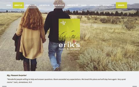 Screenshot of Blog eriksranch.org - Blog | Erik's Ranch Homepage - captured Jan. 30, 2016