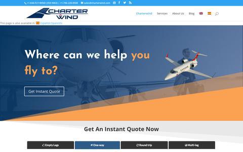 Screenshot of Home Page charterwind.com - Charterwind - Charterwind - captured Dec. 7, 2018