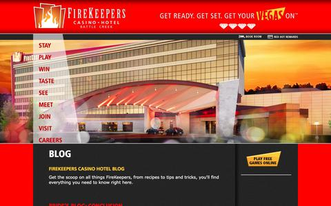 Screenshot of Blog firekeeperscasino.com - Blog  | FireKeepers Casino Hotel - captured Oct. 13, 2017