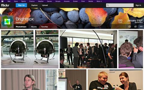 Screenshot of Flickr Page flickr.com - Flickr: Brightbox's Photostream - captured Oct. 23, 2014