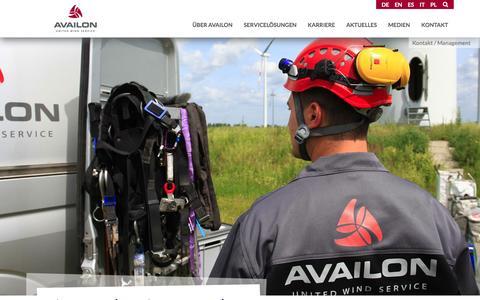 Screenshot of Team Page availon.eu - Management- Availon GmbH (Deutsch) - captured Nov. 21, 2016