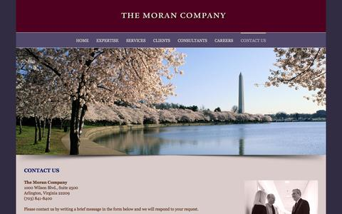 Screenshot of Contact Page themorancompany.com - Contact Us - The Moran Company - captured Jan. 11, 2016