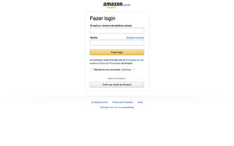 Screenshot of Contact Page amazon.com.br - Acessar Amazon - captured Sept. 8, 2019