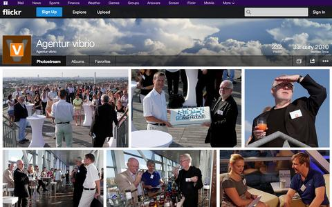 Screenshot of Flickr Page flickr.com - Flickr: Agentur vibrio's Photostream - captured Oct. 26, 2014