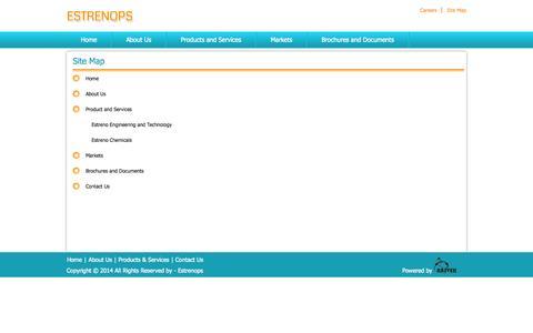 Screenshot of Site Map Page estrenops.com - Estrenops   Site Map - captured Oct. 1, 2014