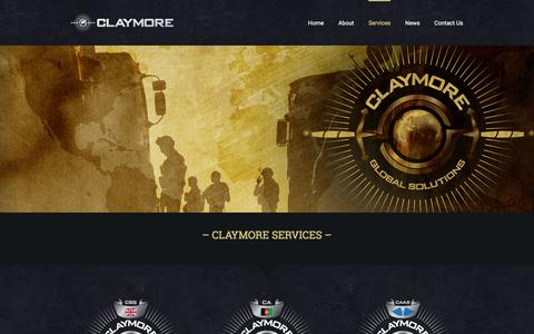 Screenshot of Services Page claymoreglobalsolutions.com - Services - Claymore Global Solutions - captured Nov. 21, 2017