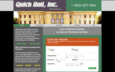Screenshot of Site Map Page betterbailbonds.net - quickbailco - captured Sept. 30, 2014