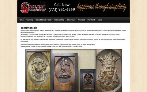 Screenshot of Testimonials Page splashcarpentry.com - Splash Carpentry -   Testimonials - captured Oct. 1, 2014