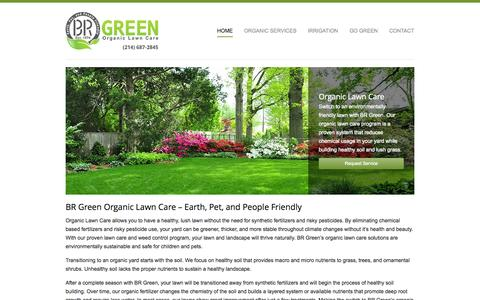 Screenshot of Home Page brgreenlawncare.com - Organic Lawn Care Service | BR Green - captured Oct. 4, 2014