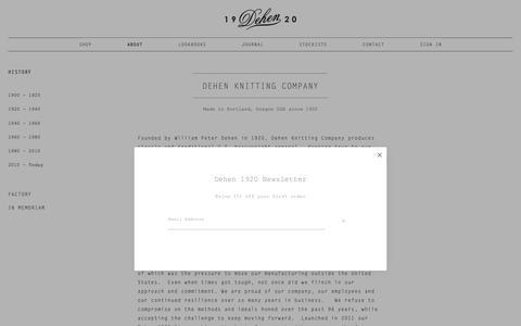 Screenshot of About Page dehen1920.com - History — Dehen 1920 - captured Oct. 8, 2018