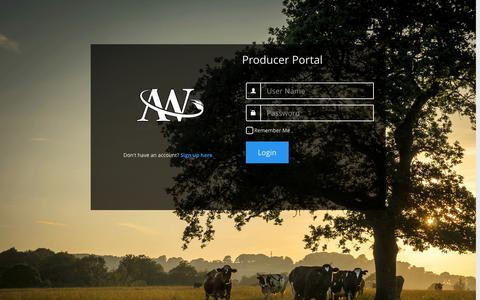 Screenshot of Login Page agriwebb.com - Login - captured Dec. 24, 2015