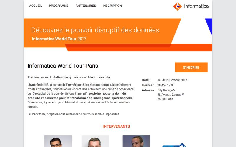 Informatica World Tour | ACCUEIL