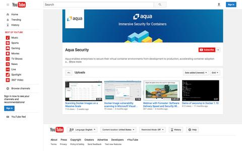 Aqua Security  - YouTube