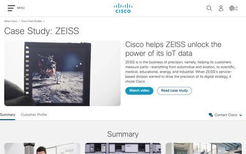 Screenshot of Case Studies Page cisco.com - Cisco Case Study: Zeiss - Cisco - captured May 10, 2019