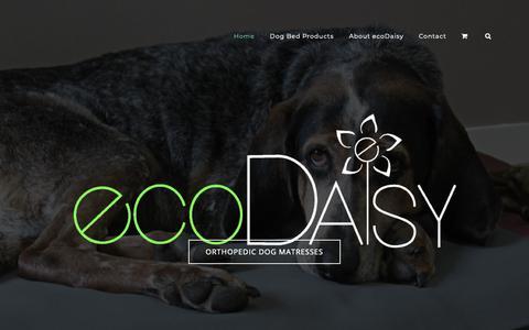 Screenshot of Home Page ecodaisy.ca - Home  - ecoDaisy Orthopedic Dog Beds - captured Dec. 16, 2018