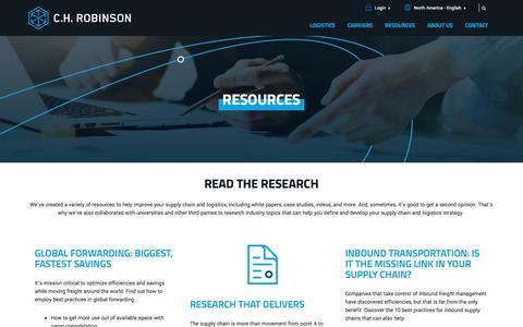 Resources: Transform Your Supply Chain | C.H. Robinson
