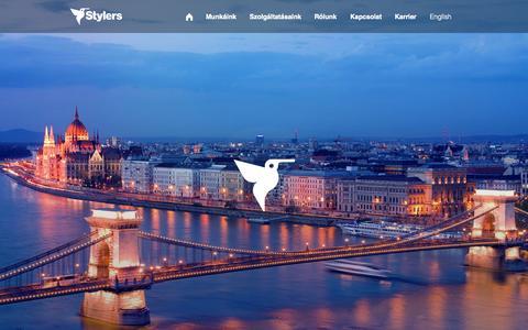 Screenshot of Home Page stylers.hu - Stylers Group | Rendszereket alkotunk - captured Aug. 16, 2015