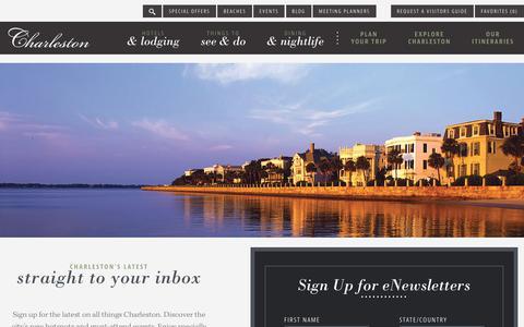 Screenshot of Signup Page charlestoncvb.com - Charleston Visitors Guide | Official Visitors Guide to Charleston, SC | Charleston Area CVB - captured Sept. 23, 2018