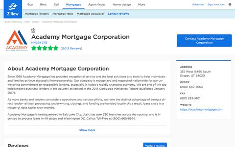 Academy Mortgage Corporation Ratings and Reviews | Zillow