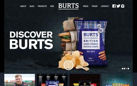 Screenshot of Home Page burtschips.com - Home - Burts Chips - captured Feb. 8, 2016